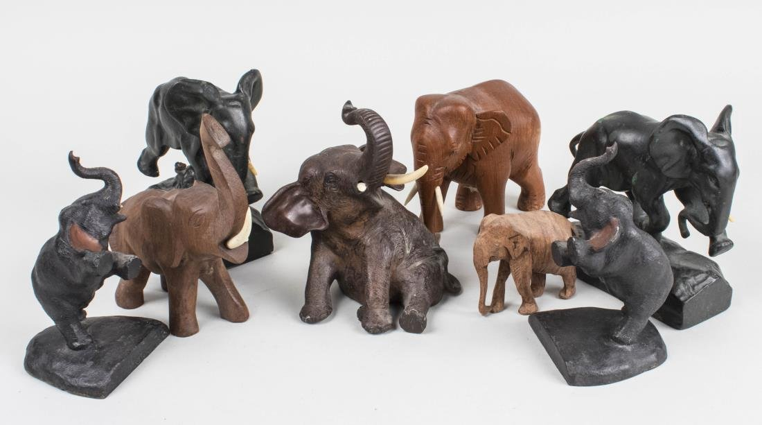 Group of Elephant Figurines