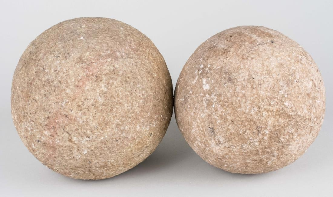 Two Granite Spheres