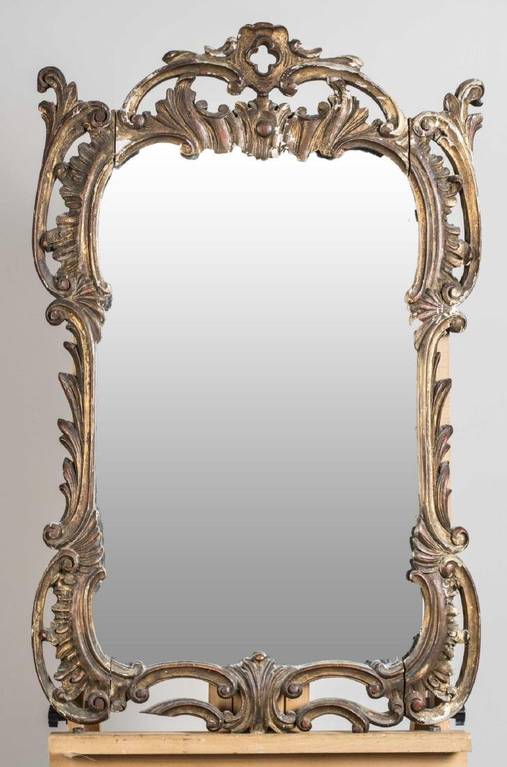 Rococo Style Gilt Carved Mirror   *