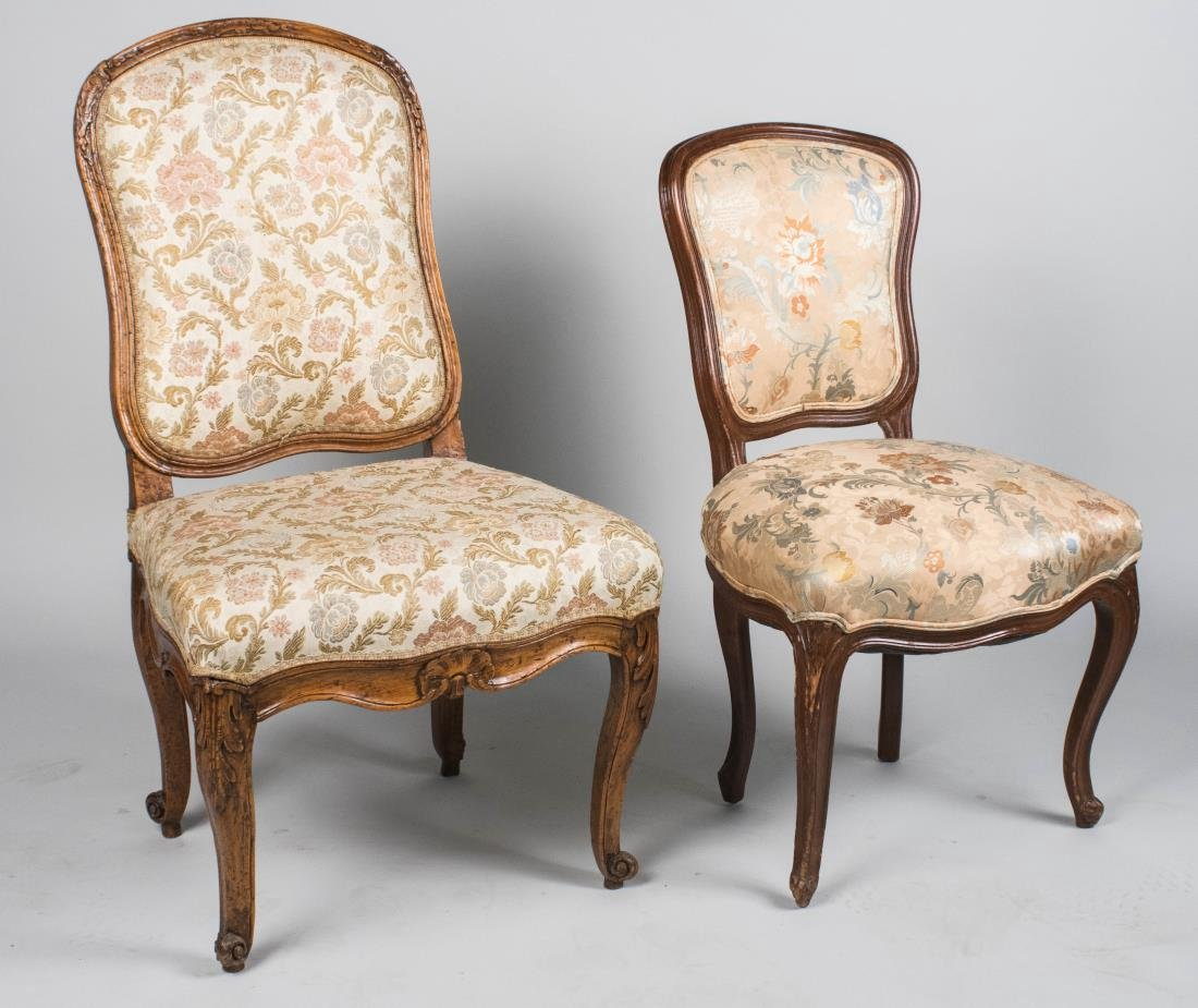 Two Louis XV Style Side Chairs