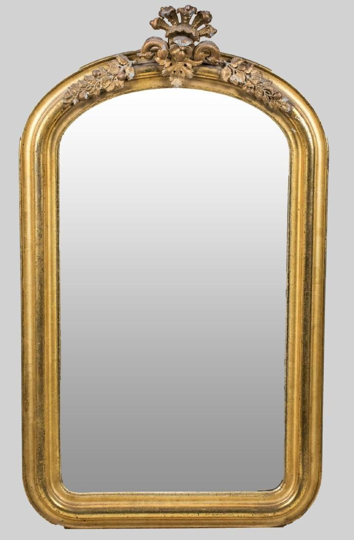 Victorian Style Gilt Wood Mirror
