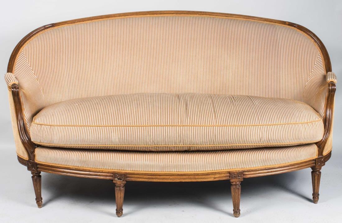 Louis XVI Style Canape a Corbeille