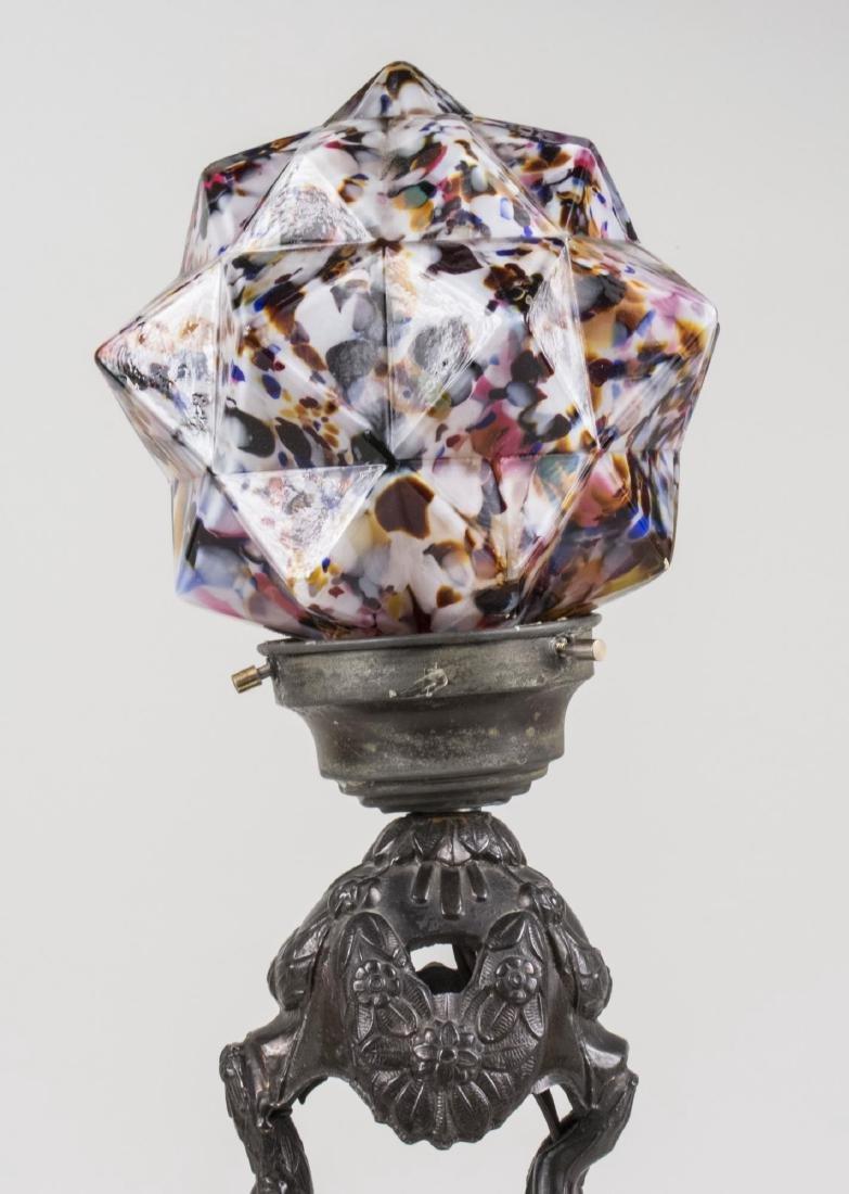 Art Nouveau Metal Figural Lamp - 2