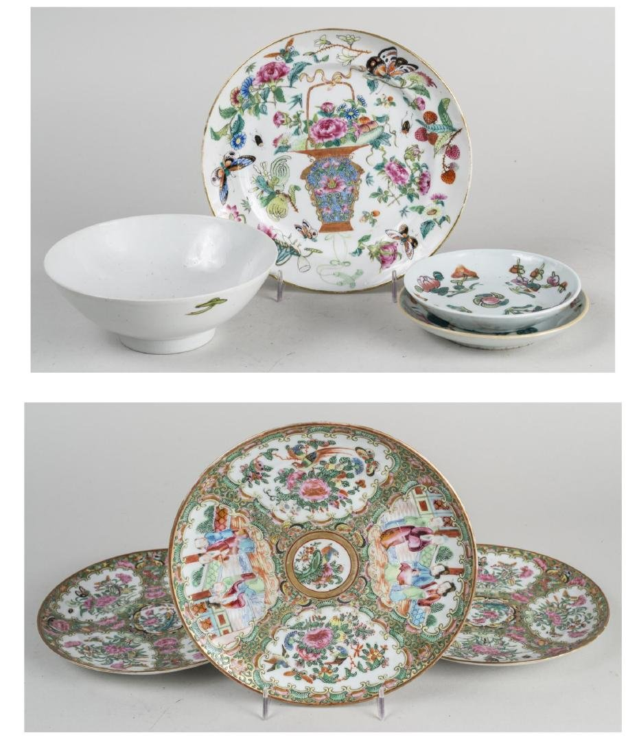 Group of  Chinese Porcelain Plates and Dishes
