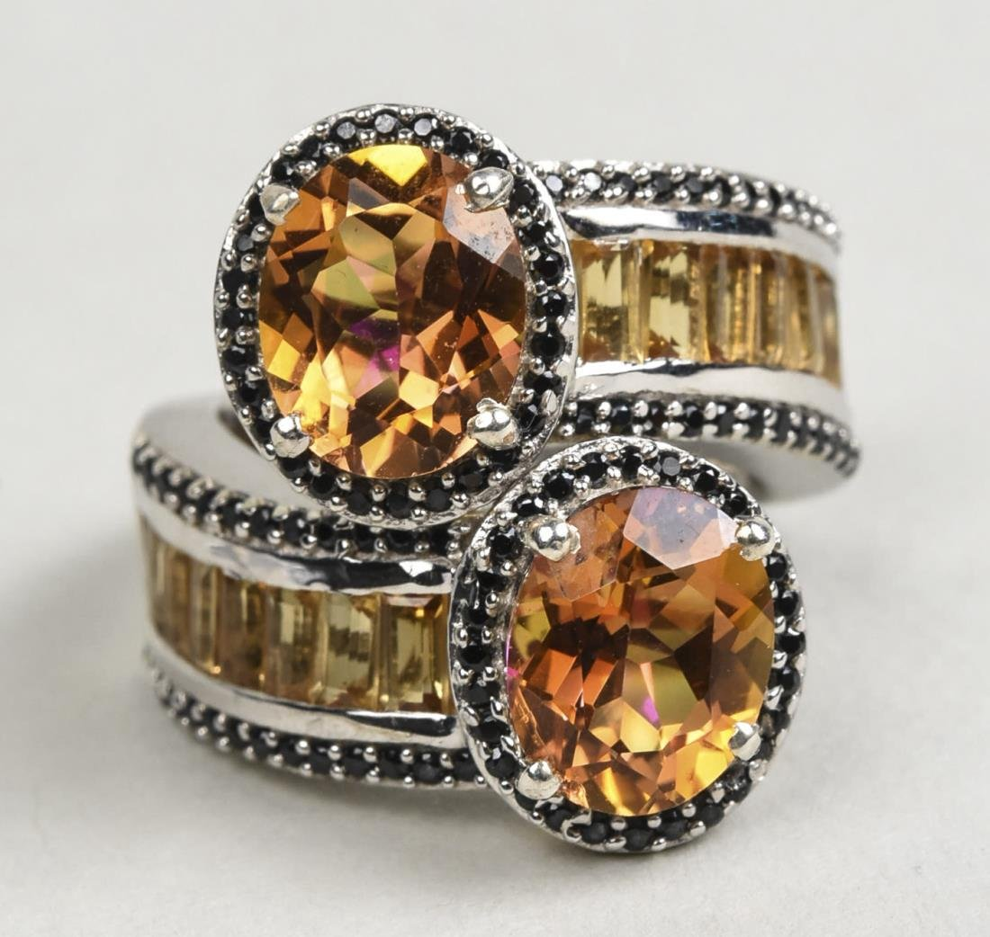 Brazilian Sunset Topaz and Citrine Ring