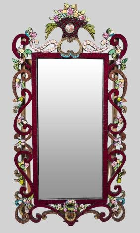 Spode Porcelain Decorated Mirror