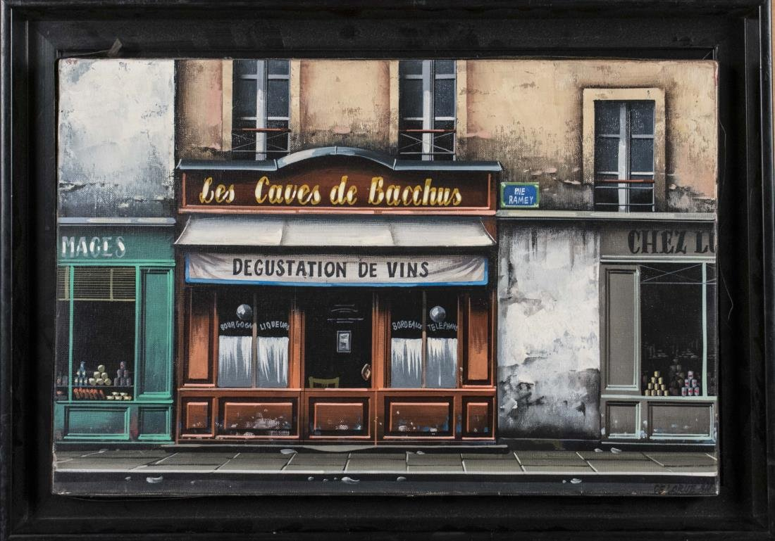Oil of a French Wine Shop