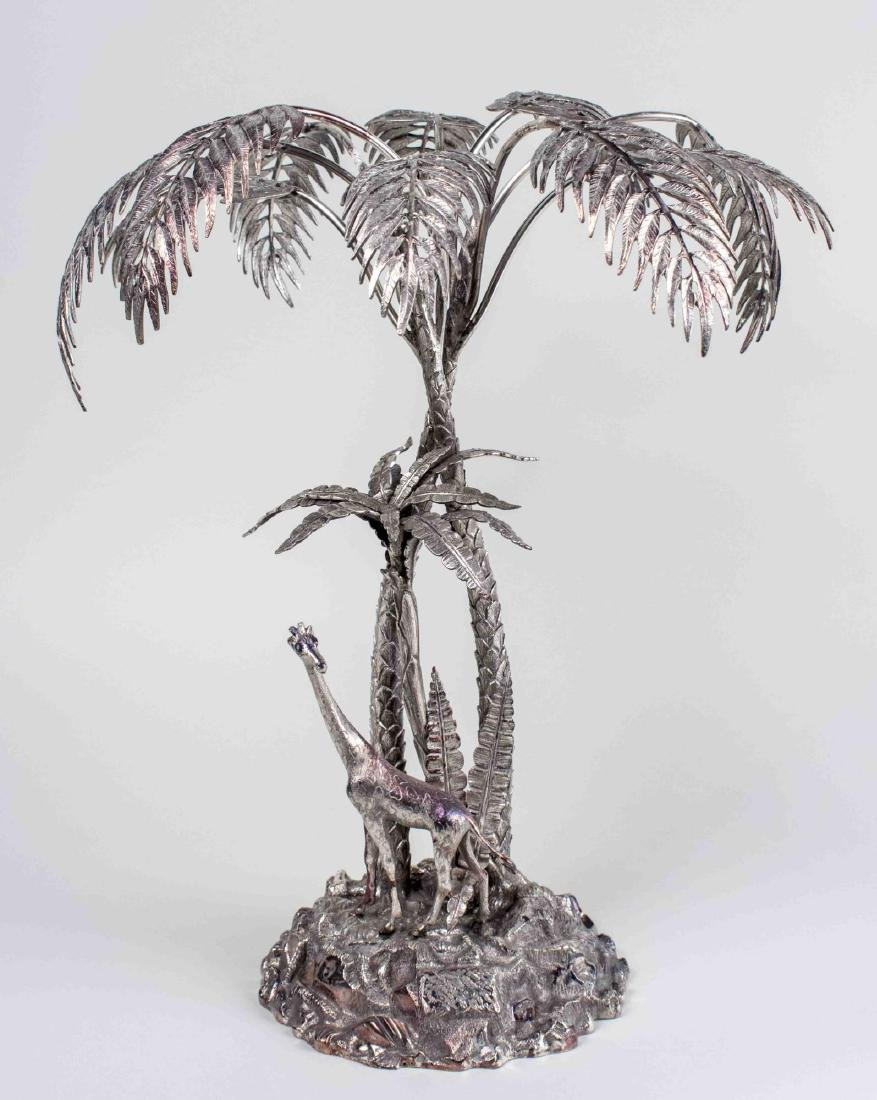 Silver Plated Palm Tree