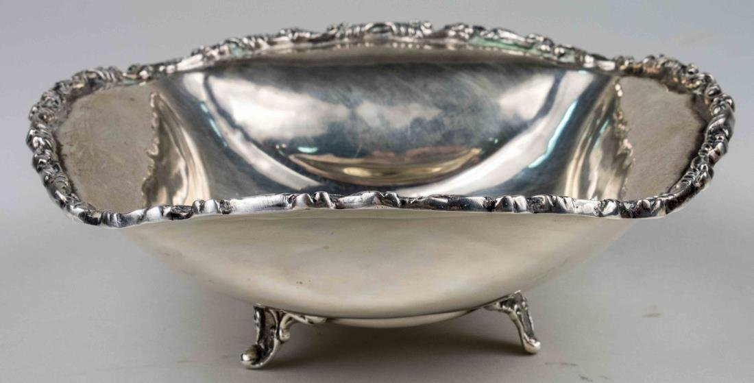 Mexican Sterling Silver Footed Bowl
