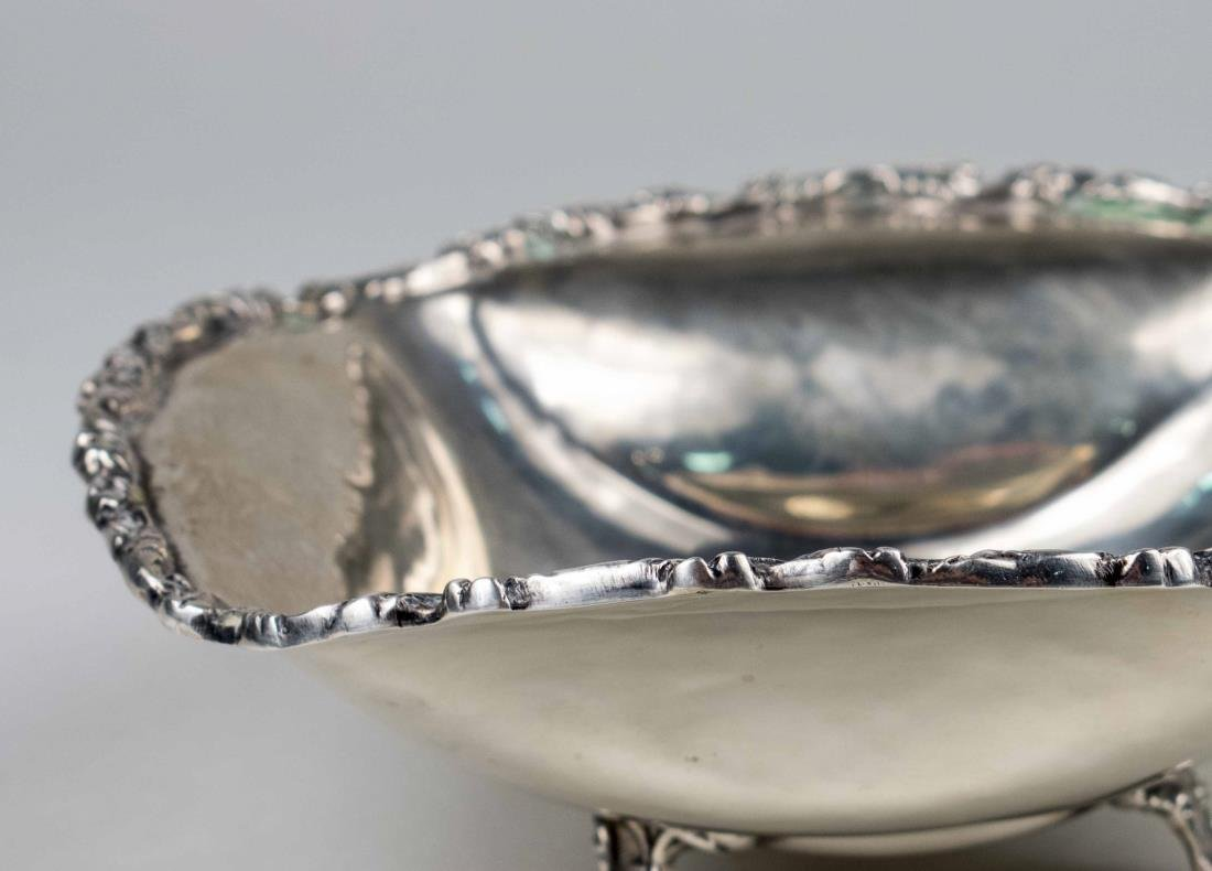 Mexican Sterling Silver Footed Bowl - 2