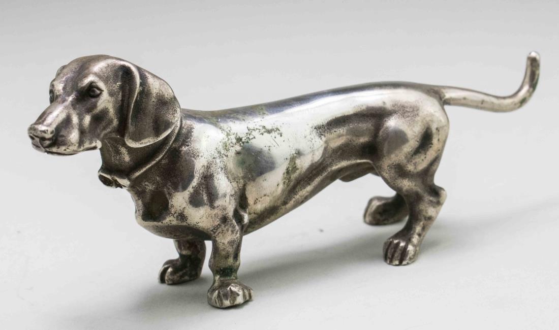 Russian Silver Dog Figure   *