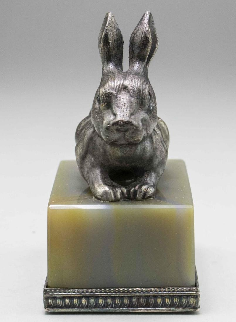 Russian Silver Rabbit Figure   * - 2