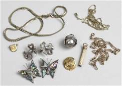 Group of Silver  Gold Filled Jewelry