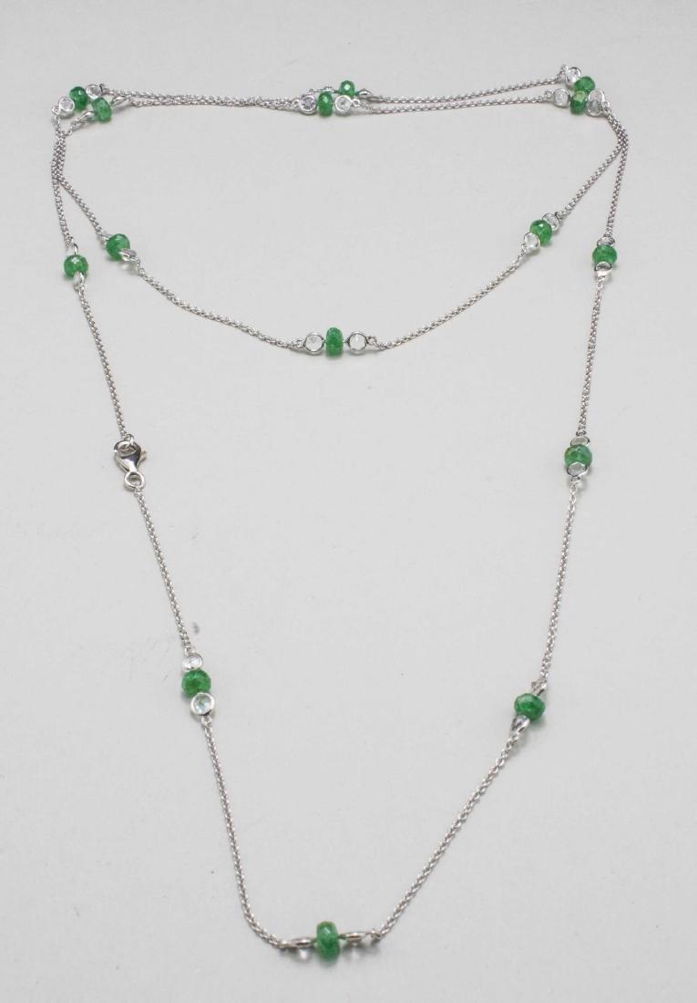 Emerald and Topaz Neck Chain   *