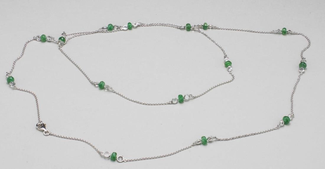 Emerald and Topaz Neck Chain   * - 2