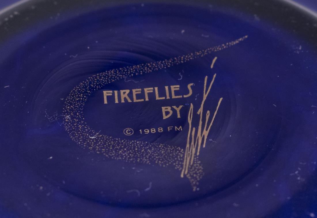 Erte Art Deco Style Blue Fireflies Vase - 5