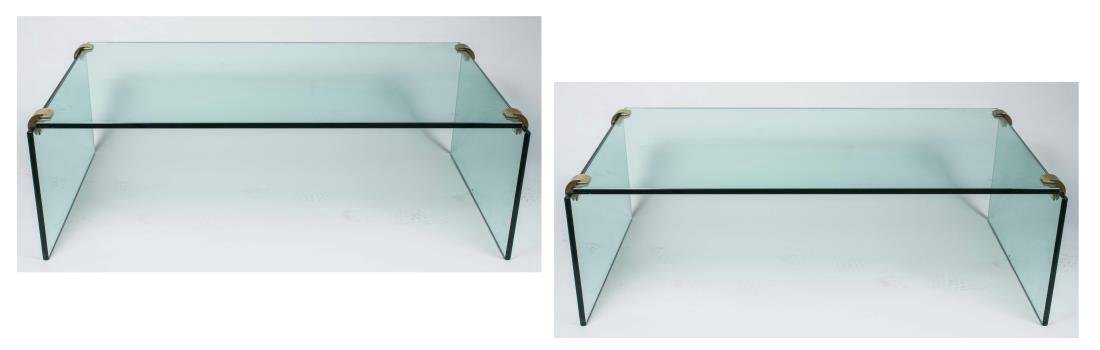 Pair of Glass Coffee Tables