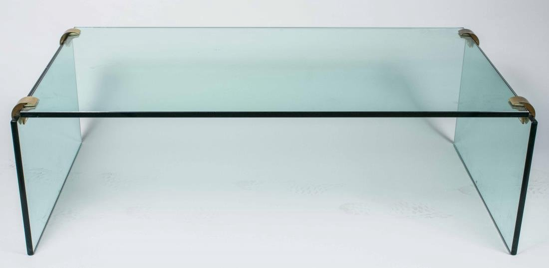 Pair of Glass Coffee Tables - 2