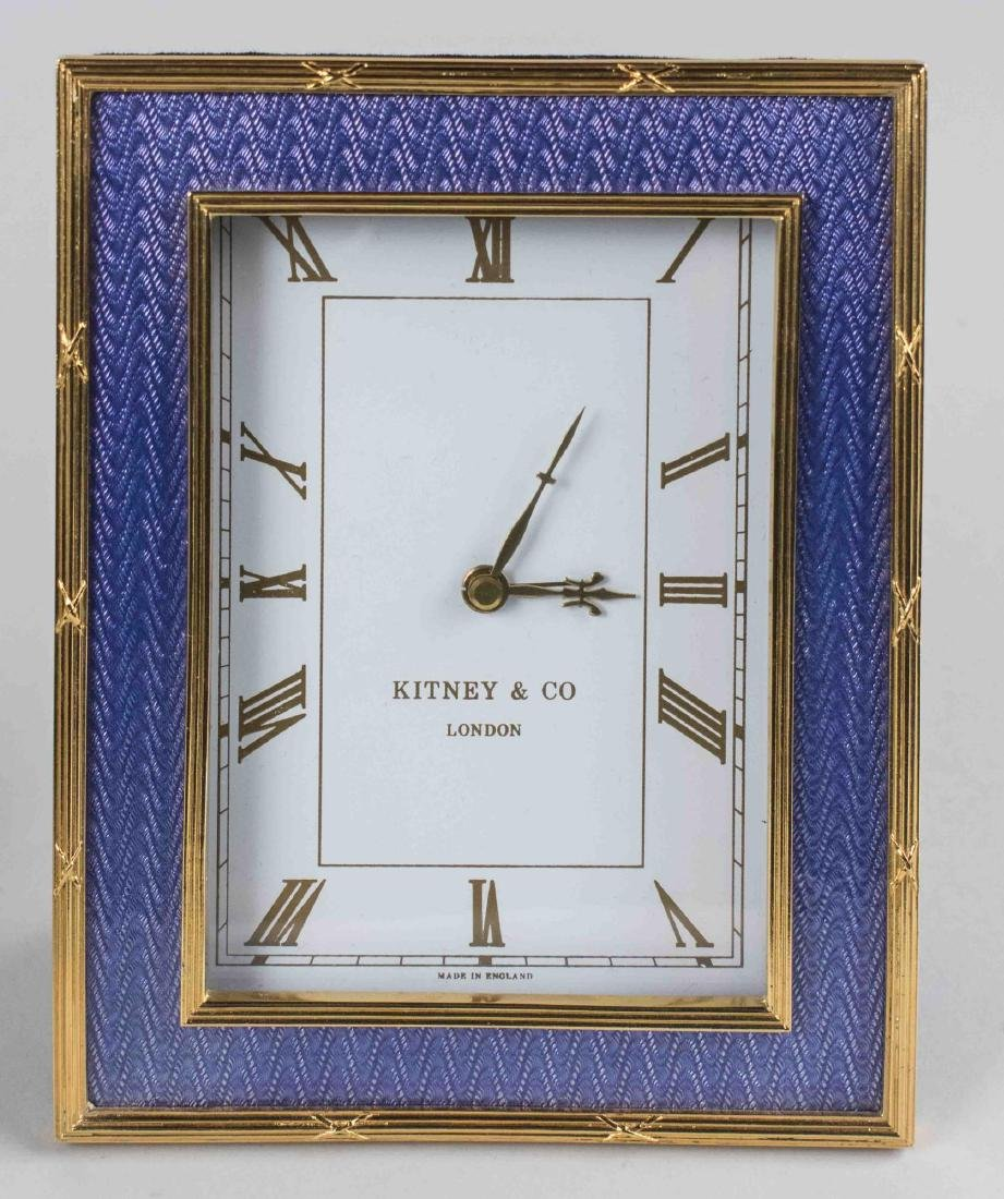 Gilt Metal Picture Frame & Desk Clock - 3