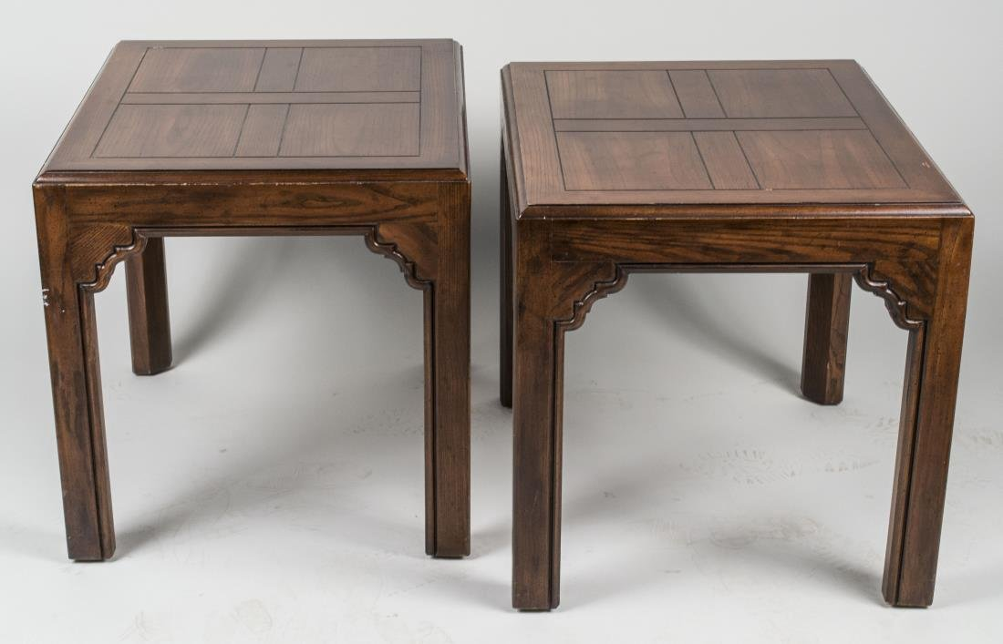 Pair of Fruitwood Lamp Tables & Coffee Table - 2