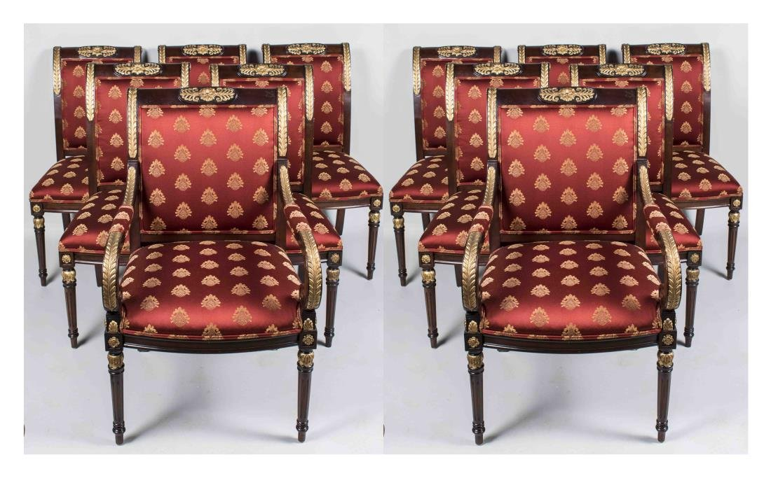 Set of Twelve Empire Style Dining Chairs