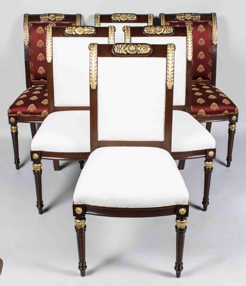 Six Empire Style Side Chairs
