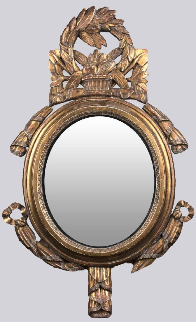 Neoclassical Style Gilt Wood Mirror   *