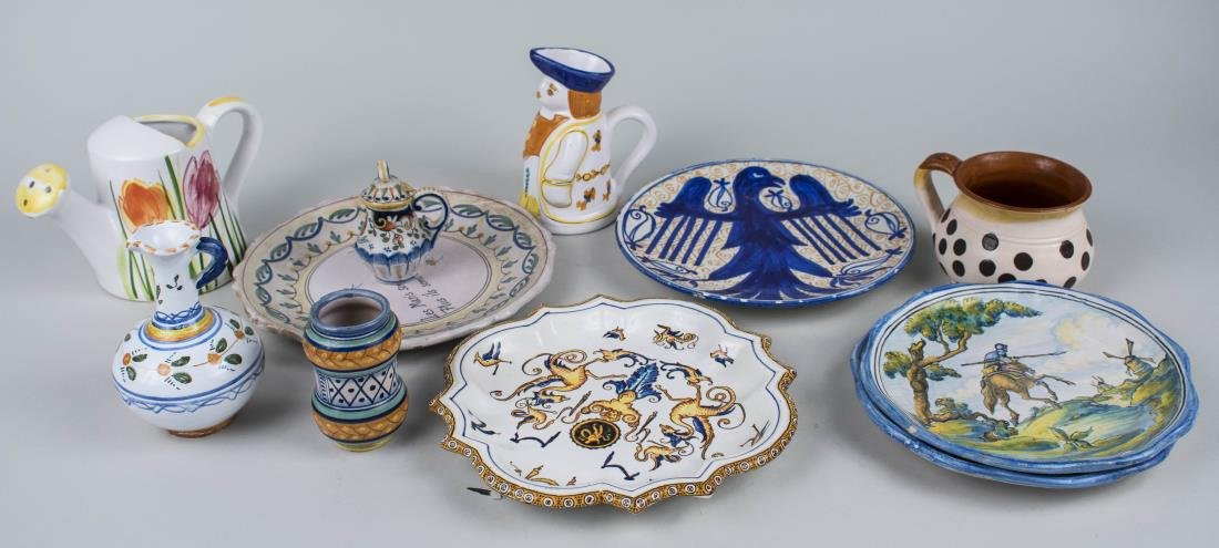 Group of Italian Majolica Table Articles