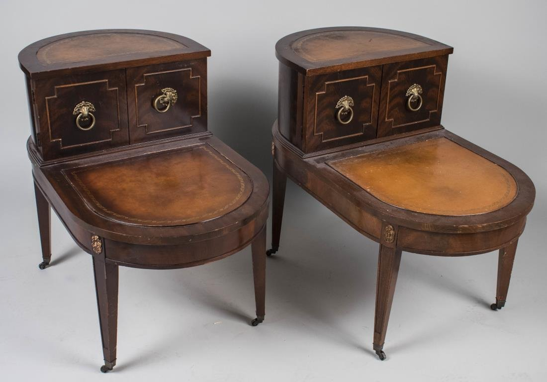 Pair of Georgian Style Fruitwood End Tables