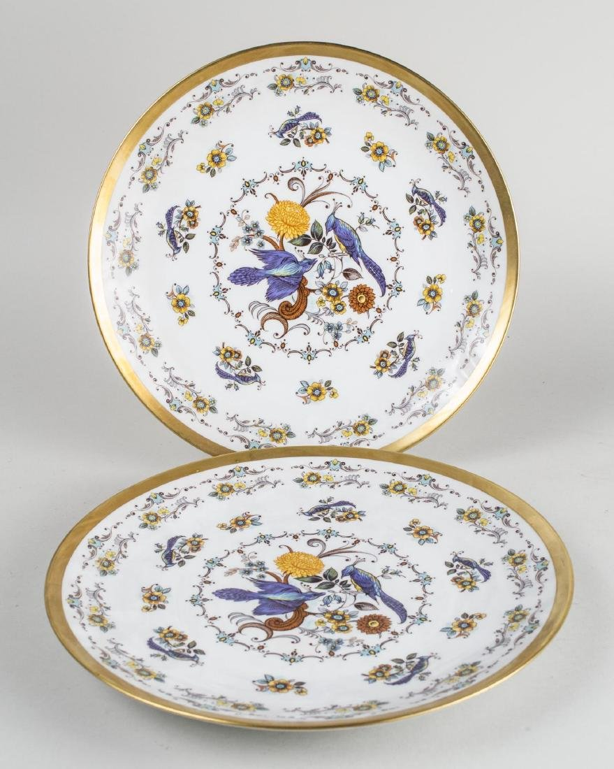 Pair of Royal Porzellan Porcelain Chargers