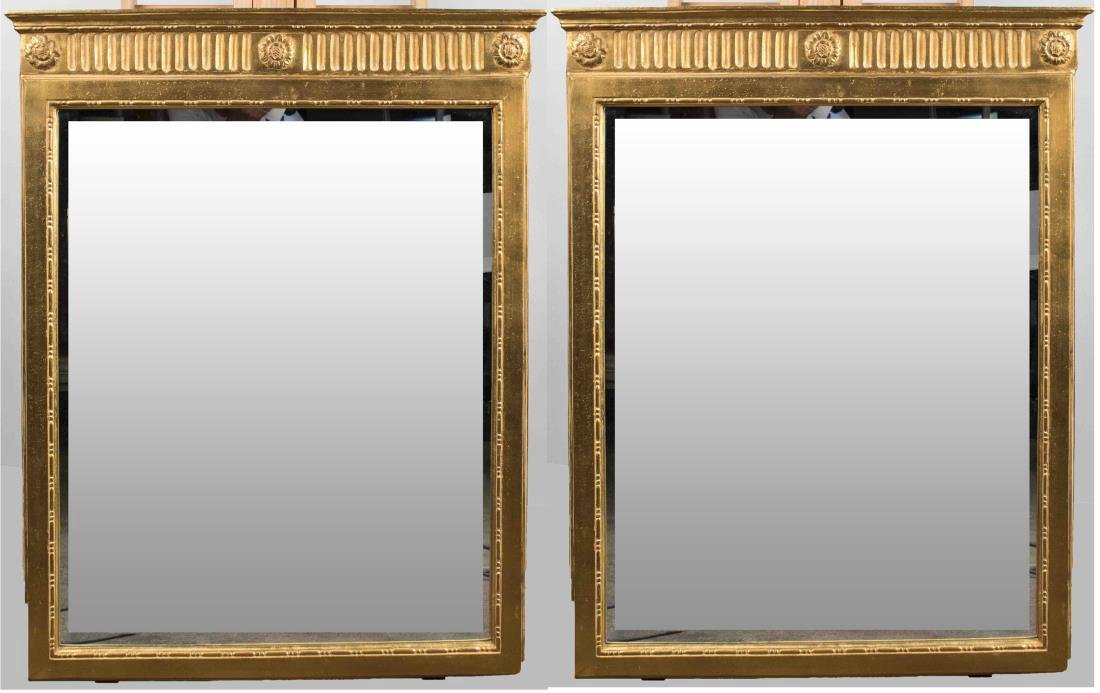 Pair of Gilt Wood Mirrors