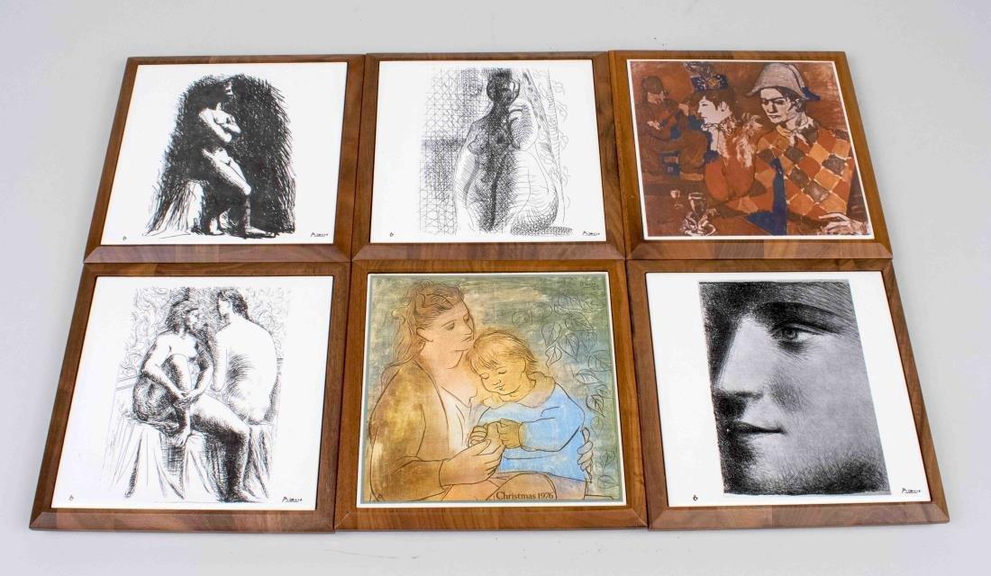 Six Tiles After Pablo Picasso