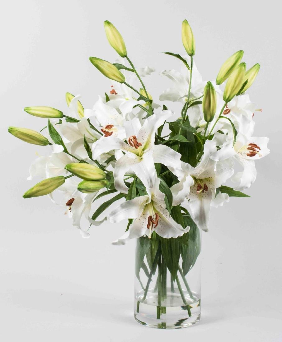 Silk Floral Arrangement of Lilies