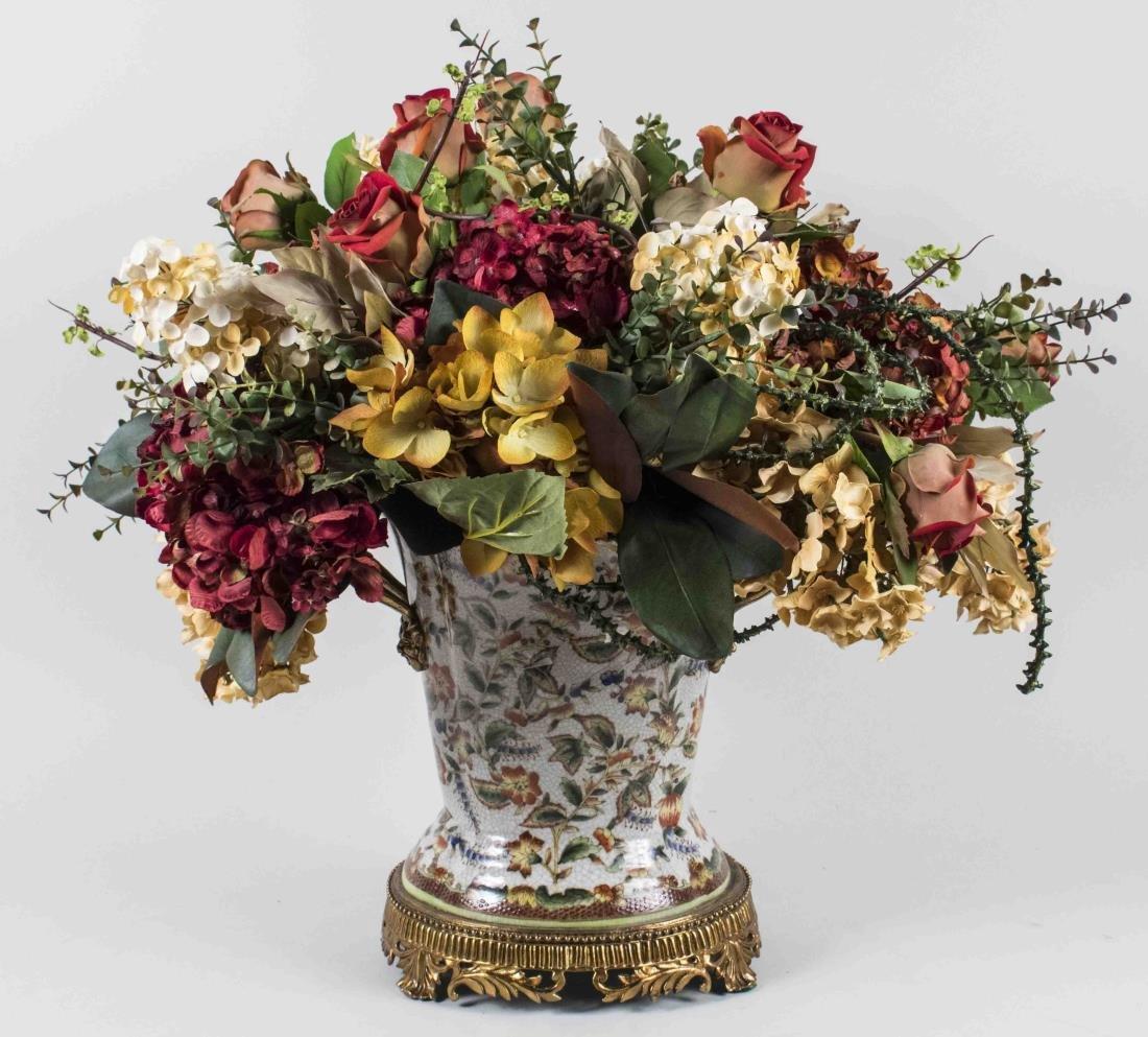 Silk Dried Flower Arrangement