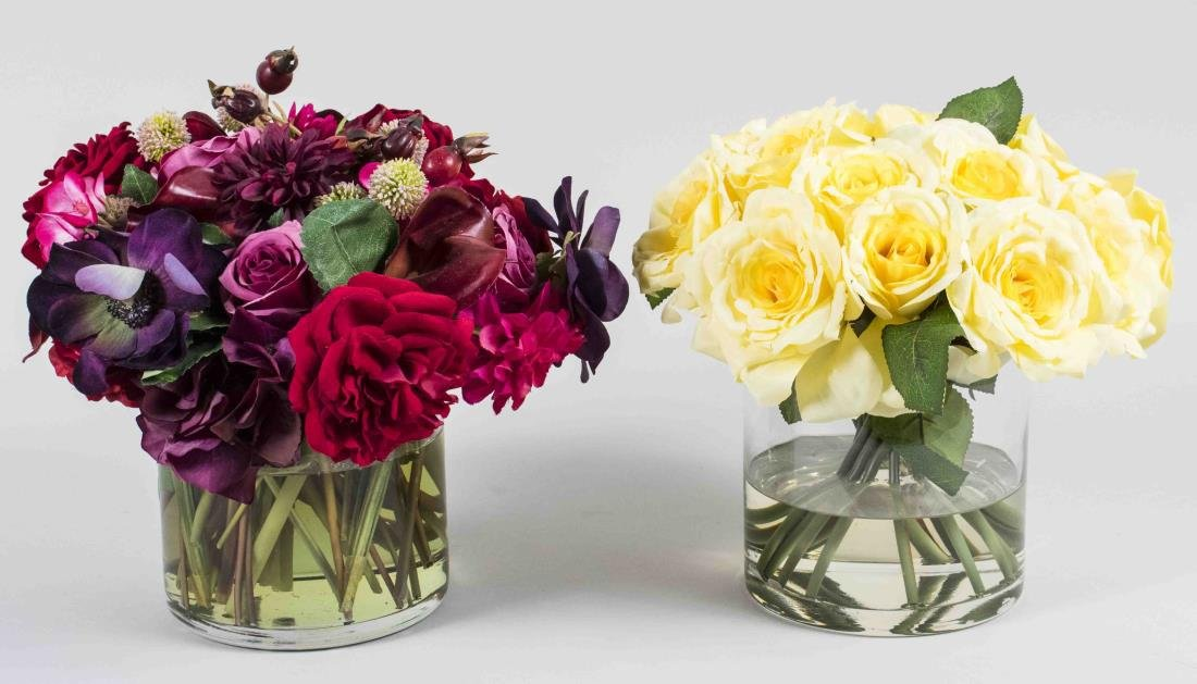 Two Small Rose Flower Arrangements