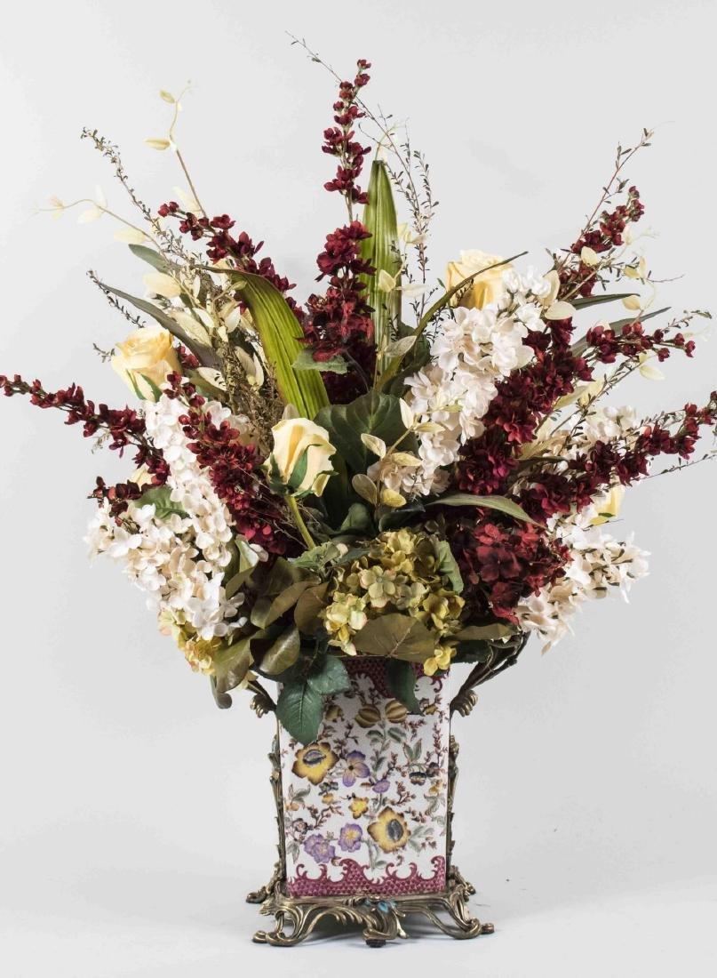 Autumnal Silk Flower Arrangement