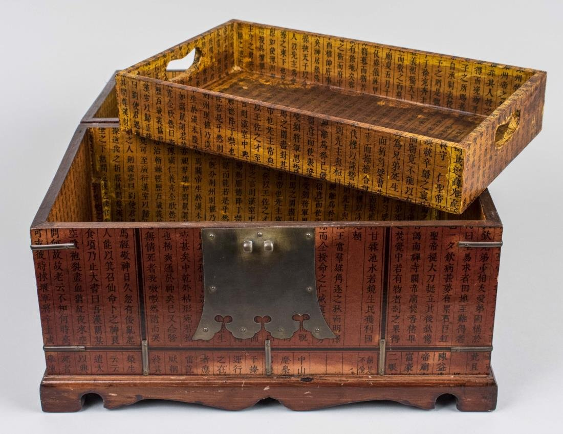 Group of Asian Lacquer Basket and Boxes - 5