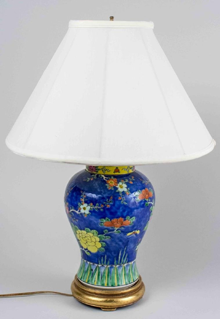 Asian Porcelain Lamp