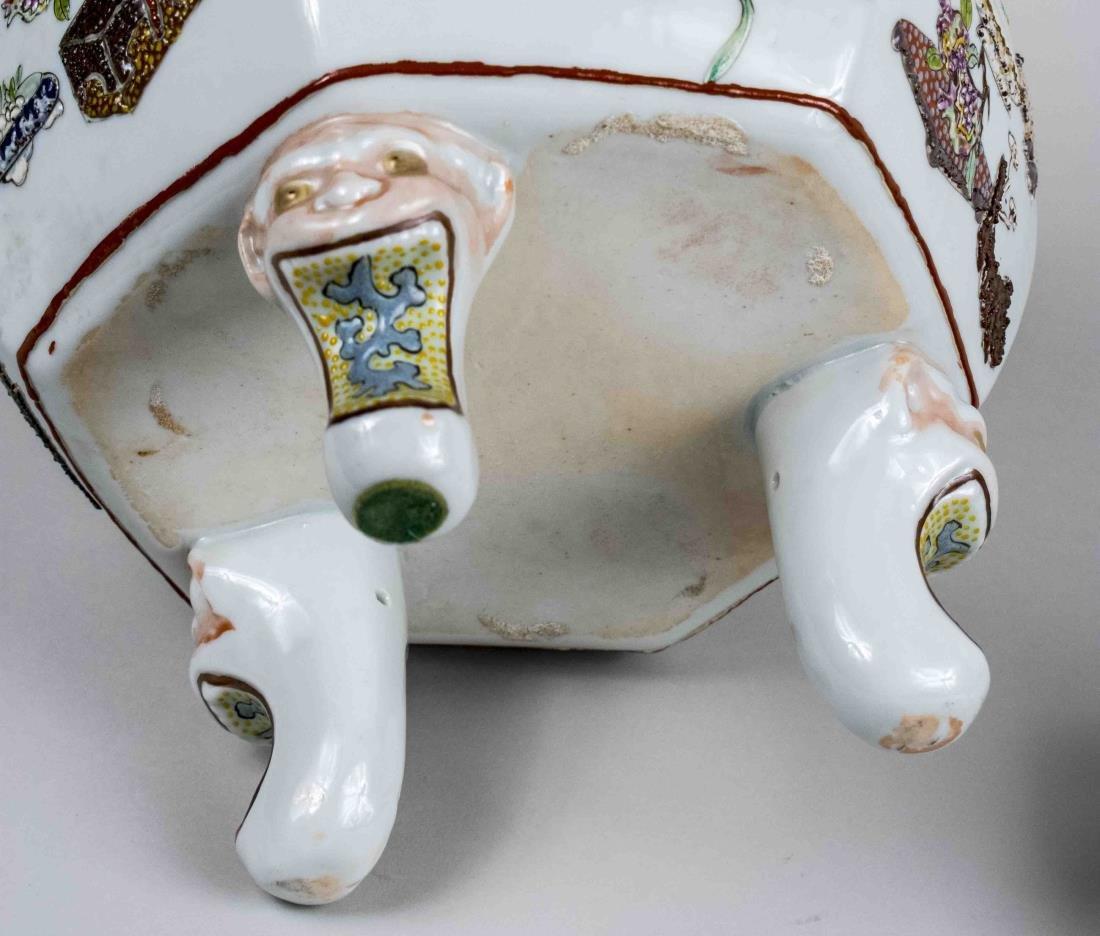 Chinese Enamel Decoration Porcelain Censer - 3
