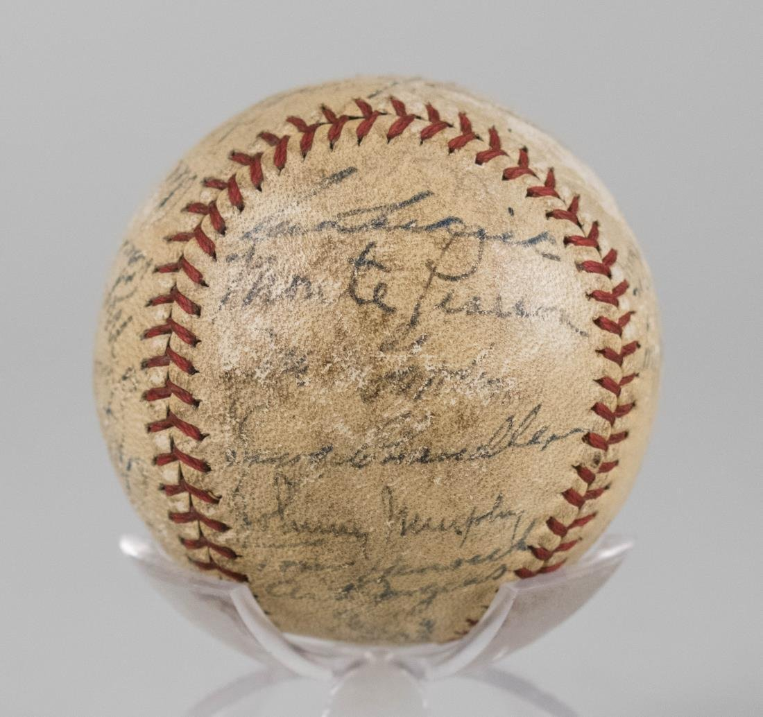 1938 New York Yankees Team Signed Ball