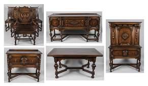 Renaissance Revival Dining Room Set