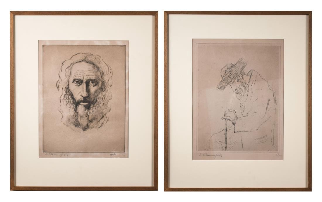Two Etchings by Israel Abramofsky