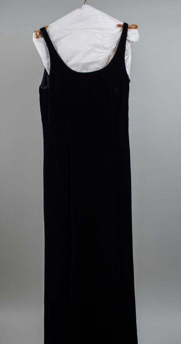 Giorgio Armani Black Velvet Evening Dress