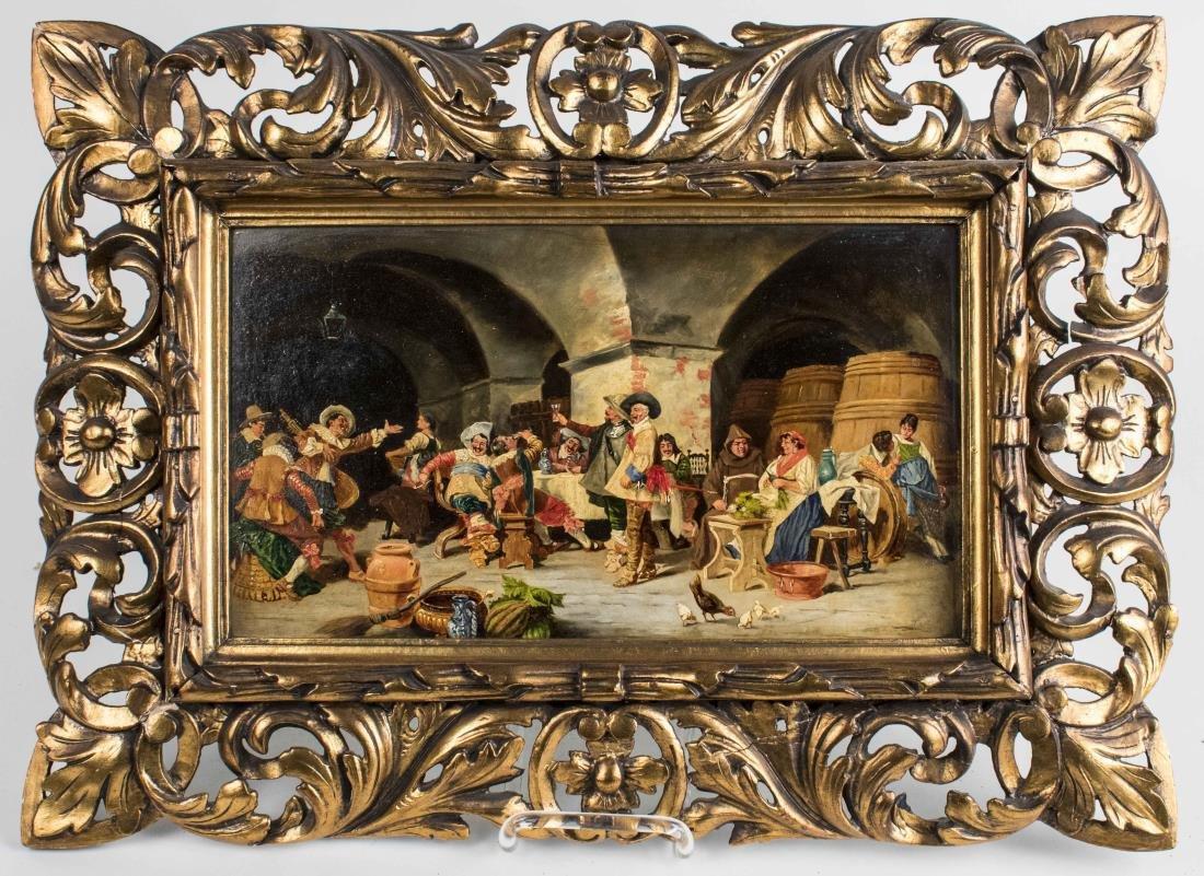 Jolly Scene of Men Drinking in Tavern (Austrian)