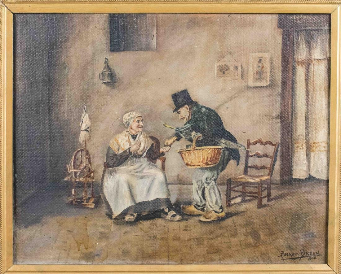 Elderly Man and Woman (Continental School, 1902)