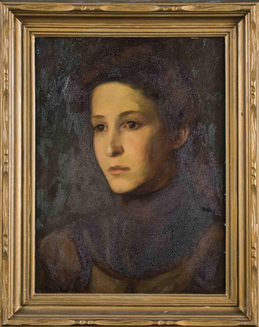 Portrait of Young Brunette Woman