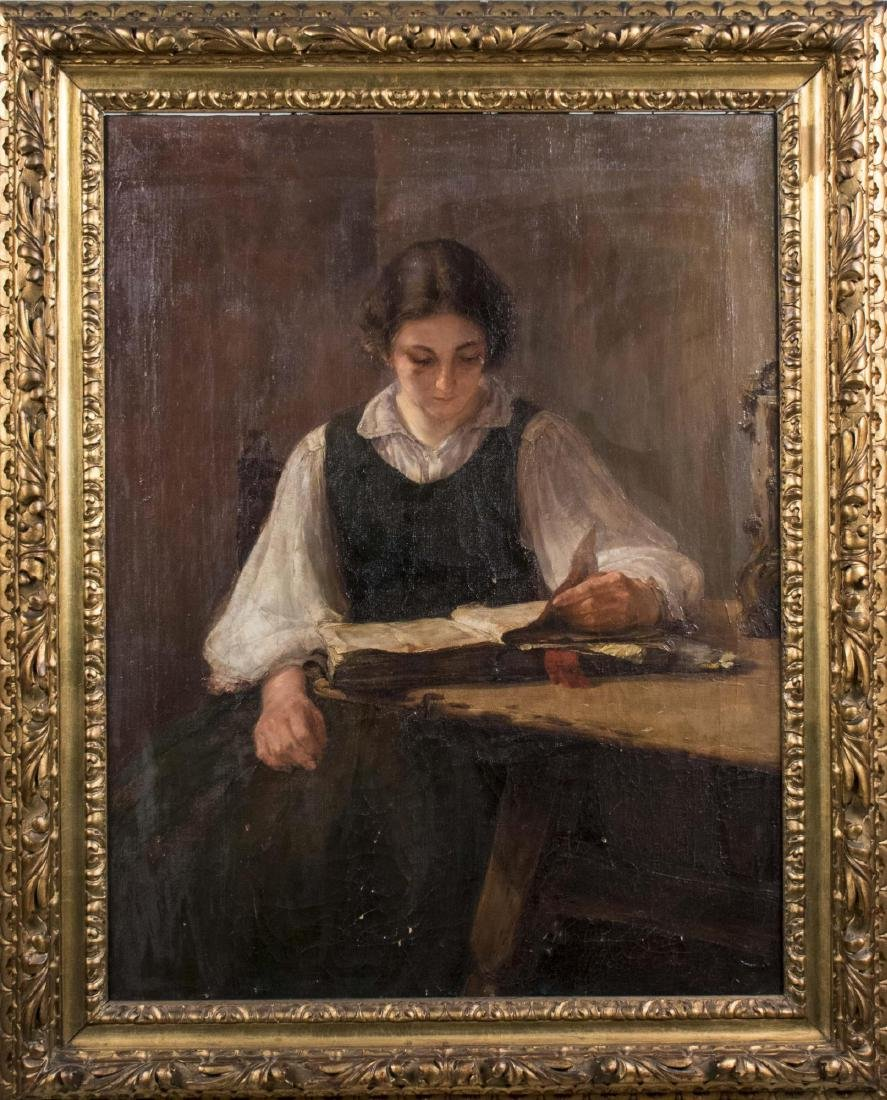 Portrait of Young Woman Reading