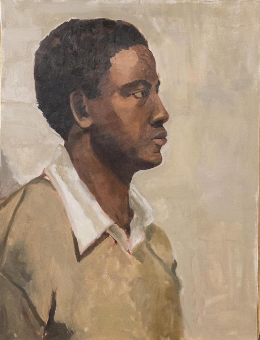 Pair of Portrait Paintings (American, 20th C) - 2