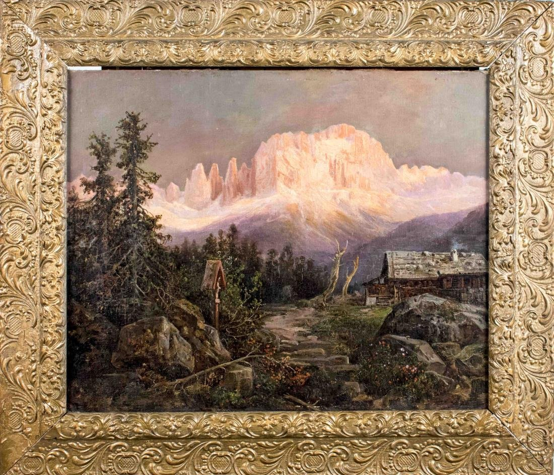 Sunset Mountain Landscape (20th Century)
