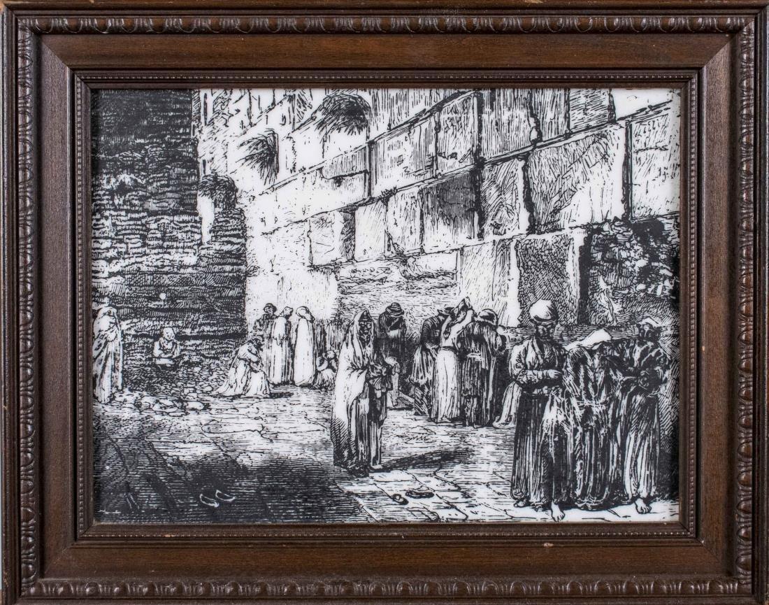 Jews Praying at the Wailing Wall in Jerusalem